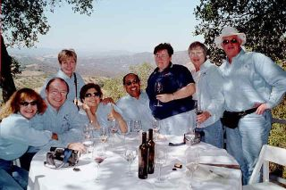 Private lunch on the hilltop of Adelaida Winery, Paso Robles, CA