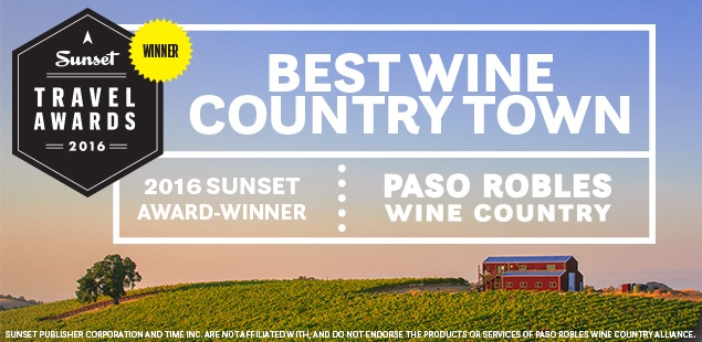 Paso Robles Best Wine Country Town by Sunset magazine 2016